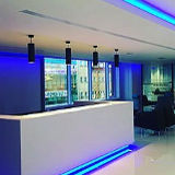 Kitchen mood lighting and LED floor level lighting