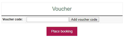 Rural Retreats voucher code entry at booking cart