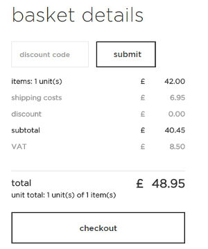 Redeem a discount code at the basket