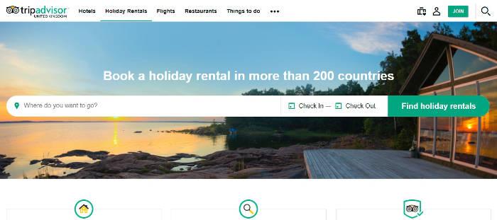 TripAdvisor Holiday Rentals Screenshot