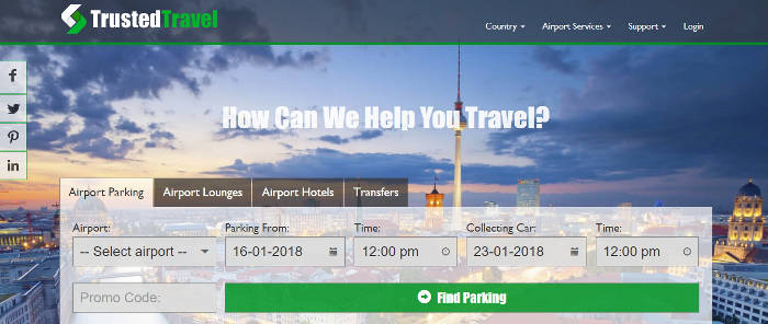 Trusted Travel screen shot