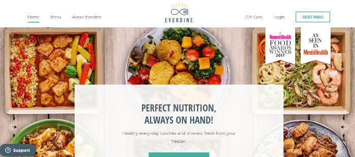 Everdine homepage preview