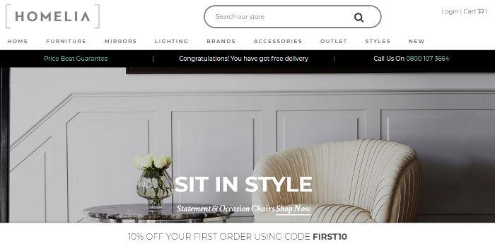 Homelia homepage preview