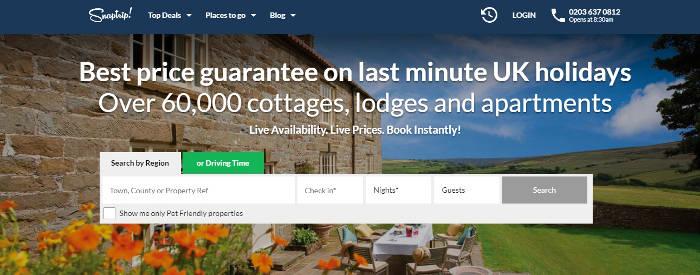 Snaptrip.com site preview