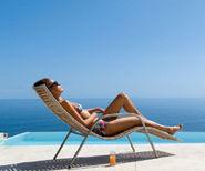 Woman enjoying a beach holiday