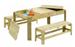 Children's activity table with sand play