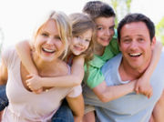 Family enjoying a UK Breakaways holiday break