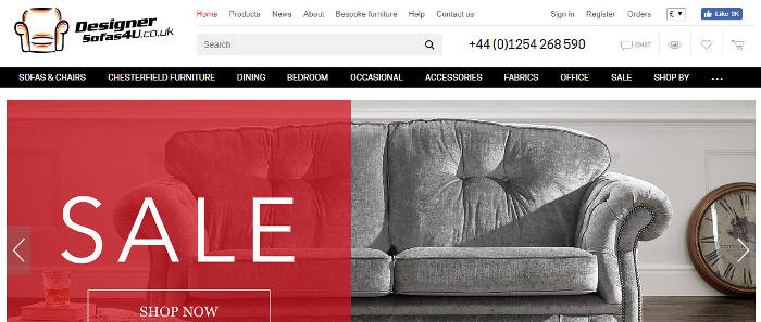 Designer Sofas 4U review screenshot