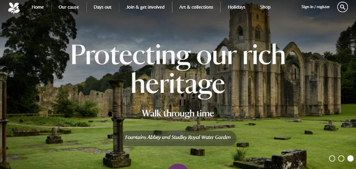 National Trust Holidays screenshot