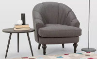 Worldstores contemporary fabric tub chair and side table