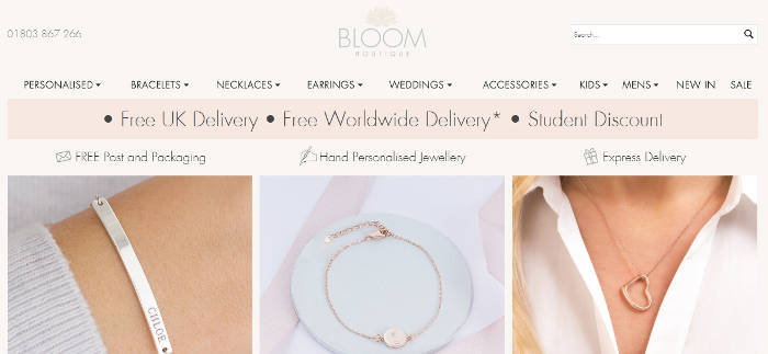 Bloom Boutique site preview
