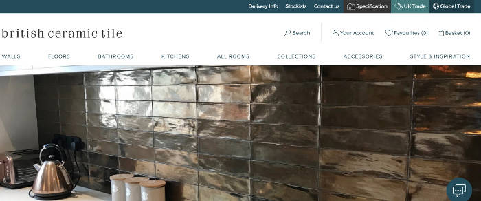 British Ceramic Tile site preview