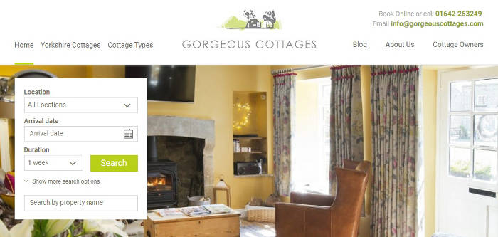 Gorgeous Cottages site preview
