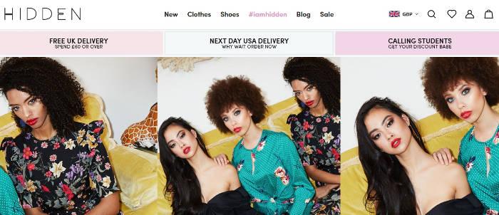 Hidden Fashion site preview