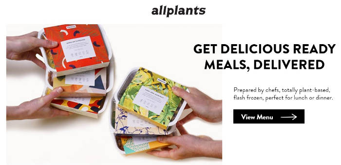 allplants website homepage preview image